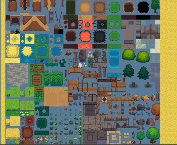 Tiled game map